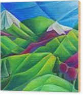 Mountain Range Wood Print