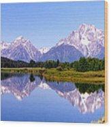 Mountain Reflections Wood Print by Carolyn Ardolino