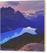 Mountain Scenery Wood Print