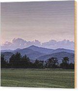 Mountain Sunset - North Carolina Landscape Wood Print