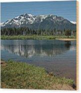 Mountain Tallac Dive In Wood Print