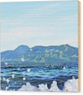 Mountain Waves Wood Print
