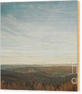 Mountains As Far As The Eye Can See Wood Print by Priska Wettstein
