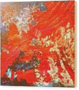 Mountains Fall Into The Raging Seas Wood Print