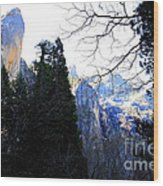 Mountains Of Yosemite . 7d6213 Wood Print by Wingsdomain Art and Photography
