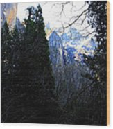 Mountains Of Yosemite . 7d6214 Wood Print