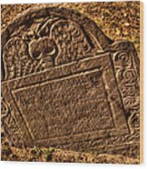 Mountfort - Granary Burying Ground - Greeting Card Wood Print