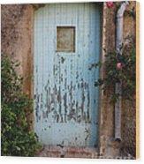 Mouse Door Wood Print