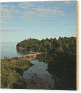 Mouth Of Beaver River Wood Print