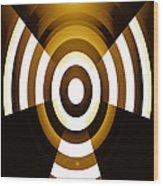 Moveonart Abstractguardianangelinyellow Wood Print