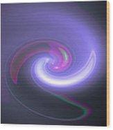 Moveonart Bluepurplemood Wood Print