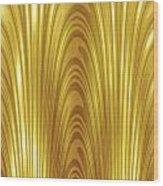 Moveonart Goldlight Wood Print