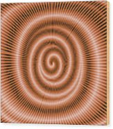 Moveonart Spiraldream Wood Print