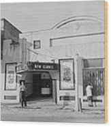 Movie Theatre, The New Glades Theater Wood Print