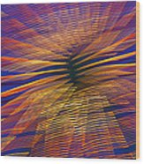 Moving Abstract Lights Wood Print