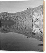 Mowich Lake Mono Print Wood Print