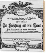 Mozart: Seraglio, 1782 Wood Print