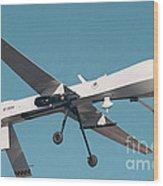 Mq-1 Predator Drone Wood Print