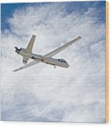 Mq-9 Reaper Spyplane Wood Print by Nasadfrc