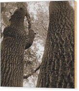 Mr And Mrs Oak Land Wood Print
