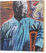 Mr. Nelson Mandela Wood Print