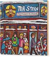 Mr Steer Restaurant Montreal Wood Print