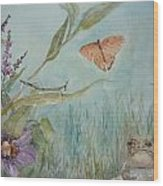 Mr. Toad Wood Print by Dorothy Herron
