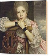 Mrs Abington As Miss Prue In Congreve's 'love For Love'  Wood Print by Sir Joshua Reynolds