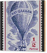 Mrs Graham The Balloonist Wood Print