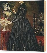 Mrs James Guthrie Wood Print