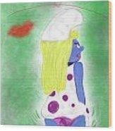 Ms. Smurf Wood Print