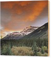 Mt. Amery And Dramatic Clouds, Banff Wood Print