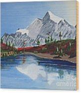 Mt Challenger Wood Print