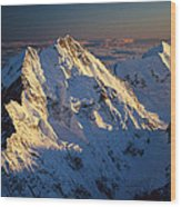 Mt Cook Or Aoraki And Mt Tasman, Aerial Wood Print