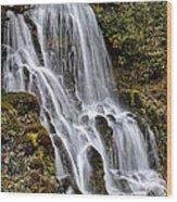 Mt Hood Cascade Wood Print