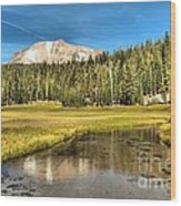 Mt Lassen Reflections Wood Print