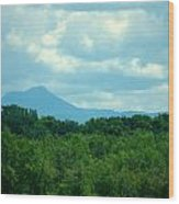 Mt Mansfield From Malletts Bay Wood Print