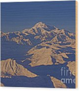 Mt. Mckinley Sunset From Above Wood Print
