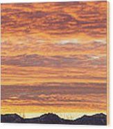 Mt Rainier December Sunrise Wood Print