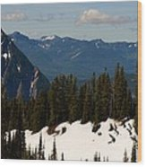Mt Rainier In June Wood Print
