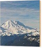 Mt Rainier Panoram Wood Print