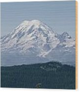 Mt. Rainier Seen From The Yakima Valley Wood Print