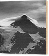 Mt Shuksan Monochrome Wood Print