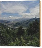 Mt St Helens Lookout Wood Print