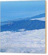 Mt Tamalpais From The Air Wood Print