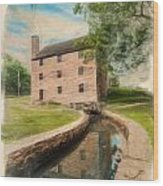 Mt. Vernon Gristmill Art Wood Print by Jim Moore