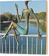 Mtkvari River Figure Wood Print