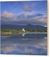 Muckross Lake, Ross Castle, Killarney Wood Print