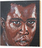 Muhammad Ali Formerly Cassius Clay Wood Print