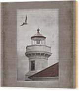 Mukilteo Light Washington Wood Print by Carol Leigh